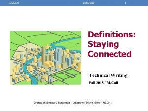1022020 Definitions 1 Definitions Staying Connected Technical Writing