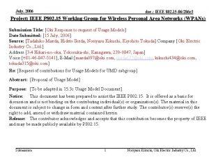 July 2006 doc IEEE 802 15 06286 r