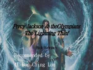 Percy Jackson the Olympians The Lightning Thief Rick