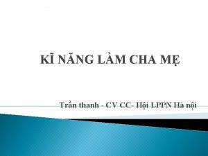 K NNG LM CHA M Trn thanh CV