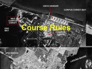 Course Rules VFR Course Rules Ground Ops focus