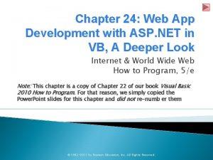 Chapter 24 Web App Development with ASP NET