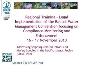 Secretariat of the Pacific Regional Environment Programme Regional