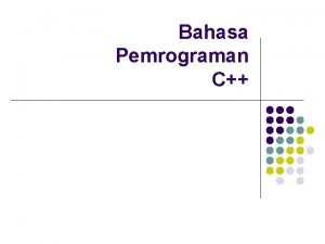 Bahasa Pemrograman C Operator operator 53 operand Macam