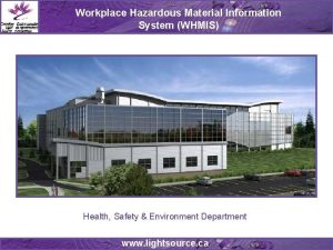 Workplace Hazardous Material Information System WHMIS Health Safety