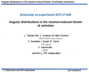 Angular distributions in the neutroninduced fission of actinides