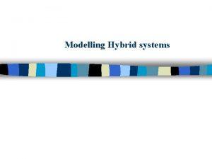 Modelling Hybrid systems Hybrid Systems n Hybrid combined