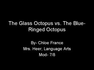 The Glass Octopus vs The Blue Ringed Octopus