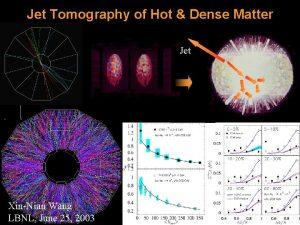 Jet Tomography of Hot Dense Matter Jet XinNian