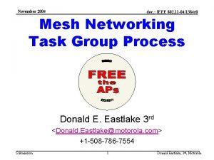 November 2004 doc IEEE 802 11 041384 r