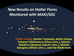 New Results on Stellar Flares Monitored with MAXIGSC