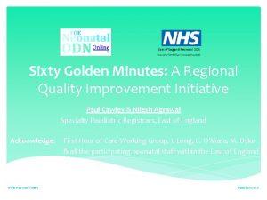 Sixty Golden Minutes A Regional Quality Improvement Initiative