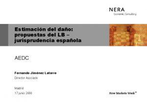 Estimacin del dao propuestas del LB jurisprudencia espaola