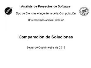 Anlisis de Proyectos de Software Dpo de Ciencias