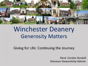 Winchester Deanery Generosity Matters Giving for Life Continuing