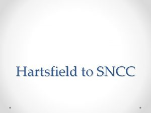 Hartsfield to SNCC End of WWII ended in