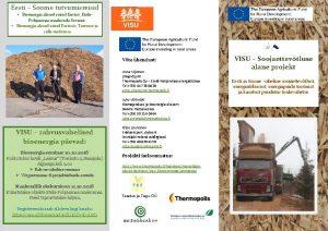 Bioenergia alased reisid Eestist EtelPohjanmaa maakonda Soomes Bioenergia
