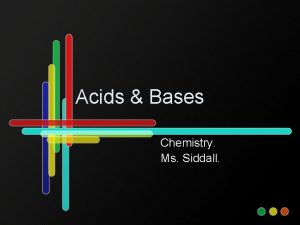 Acids Bases Chemistry Ms Siddall Standard 5 a