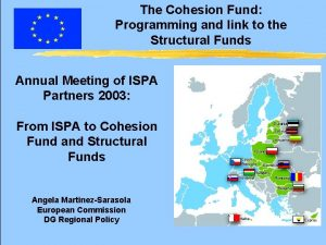 The Cohesion Fund Programming and link to the