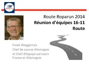 Route Roparun 2014 Runion dquipes 16 11 Route
