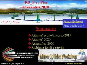 RDFA Pisa Preventivi 2020 CEPC China Sommario Franco