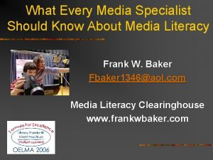 What Every Media Specialist Should Know About Media