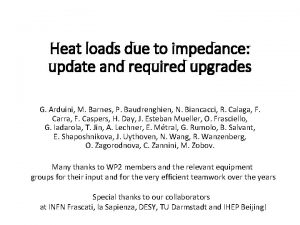 Heat loads due to impedance update and required