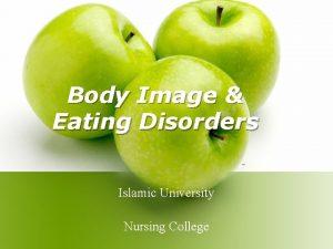 Body Image Eating Disorders Islamic University Nursing College