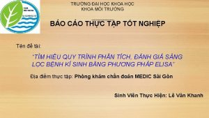TRNG I HC KHOA MI TRNG BO CO