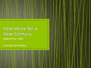 New Ideas for a New Century Ireland Post