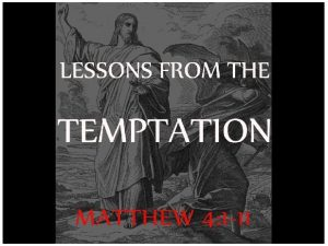 Tempted after new beginning Jesus after his baptism