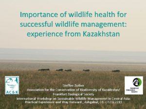 Importance of wildlife health for successful wildlife management