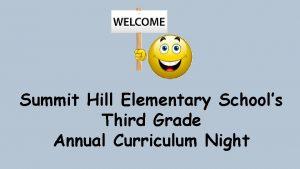 Summit Hill Elementary Schools Third Grade Annual Curriculum