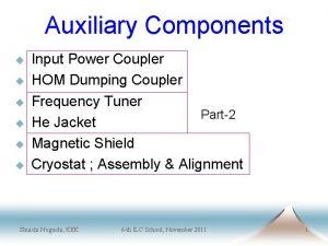 Auxiliary Components u u u Input Power Coupler