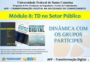 Universidade Federal de Santa Catarina Programa de PsGraduao