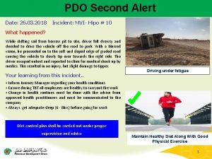 PDO Second Alert Date 26 03 2018 Incident