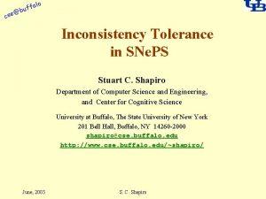 alo cse f buf Inconsistency Tolerance in SNe