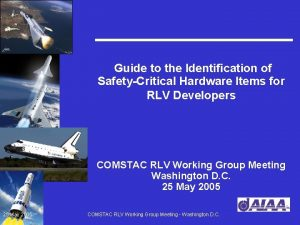 Guide to the Identification of SafetyCritical Hardware Items