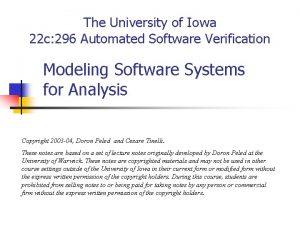 The University of Iowa 22 c 296 Automated