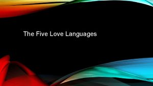 The Five Love Languages Keeping The Love Tank