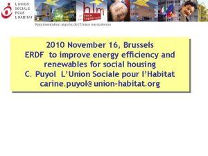 Reprsentation auprs de lUnion europenne 2010 November 16