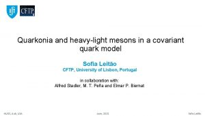 Quarkonia and heavylight mesons in a covariant quark