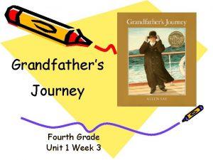 Grandfathers Journey Fourth Grade Unit 1 Week 3