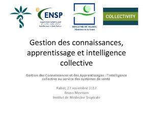 Gestion des connaissances apprentissage et intelligence collective Gestion