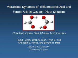 Vibrational Dynamics of Trifluoroacetic Acid and Formic Acid