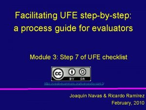 Facilitating UFE stepbystep a process guide for evaluators