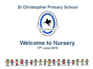 St Christopher Primary School Welcome to Nursery 17