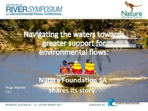 Navigating the waters towards greater support for environmental
