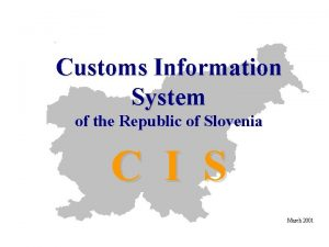Customs Information System of the Republic of Slovenia