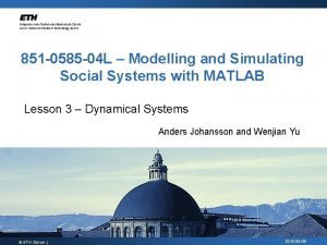 851 0585 04 L Modelling and Simulating Social